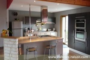 cuisine grise cuisine grise cuisine 35 cuisines design voir absolument photos cuisine grise. Black Bedroom Furniture Sets. Home Design Ideas