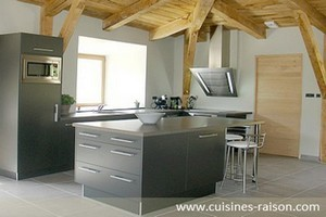 10 exemples de cuisines grises iterroir. Black Bedroom Furniture Sets. Home Design Ideas