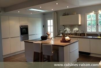 Exemple de cuisine avec ilot central cuisine ouverte for Ilot centrale pour petite cuisine