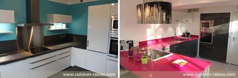 Des exemples de cuisines color es iterroir for Exemple couleur cuisine