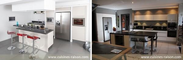 des exemples de cuisines aux lignes pur es iterroir. Black Bedroom Furniture Sets. Home Design Ideas