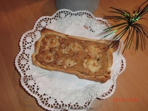 Tarte poires et crème de pain d'épices