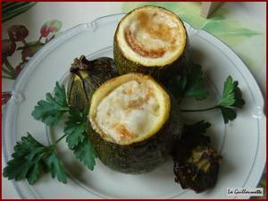 Courgettes rondes farcies à la mozzarella - recette iTerroir on