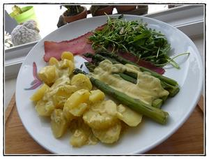asperges en sauce hollandaise version avec thermomix recette iterroir. Black Bedroom Furniture Sets. Home Design Ideas