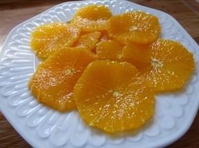 Carpaccio d'oranges au sucre de canne et cannelle