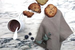 Cookies aux graines de lin et au chocolat noir