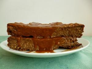 Gâteau hyperproteiné vegan chocolat chicorée caramel