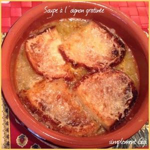 Soupe l 39 oignon gratin e recette iterroir - Soupe a l oignon gratinee ...