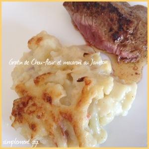 Gratin De Chou Fleur Et Macaronis Au Jambon Recette Iterroir
