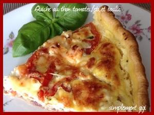 quiche au thon tomates feta et basilic recette iterroir. Black Bedroom Furniture Sets. Home Design Ideas