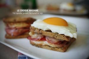 Le croque madame sans gluten