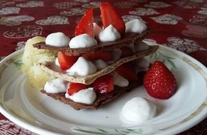 Mille feuilles fraise chocolat