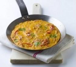 Omelette au thon et confiterelles