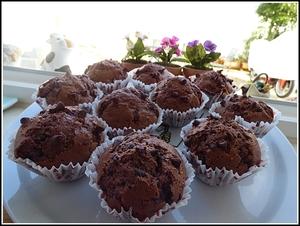 Muffins aux pépites de chocolat avec ou sans thermomix
