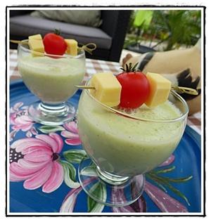 Soupe de concombre version avec thermomix recette iterroir - Cuisiner avec thermomix ...