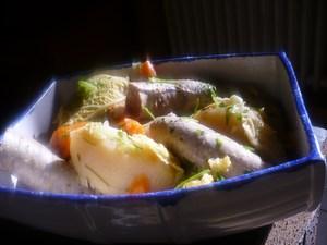 Potée de légumes et saucisse