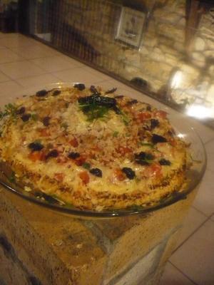 Pizza au chou-fleur sans farine