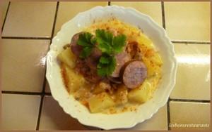 Blanquette de pommes de terre et sa saucisse fum e - Cuisiner des saucisses fumees ...