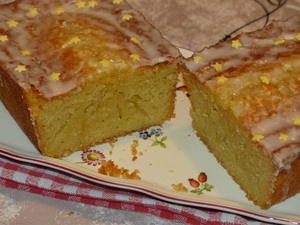 Cake citron, orange et amandes