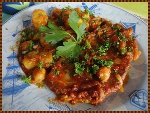 C telettes de porc et choux de bruxelles la tomate - Cuisiner chou de bruxelles ...