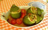 Courgettes rondes farcies au jambon et petit suisse - Cuisiner courgettes rondes ...