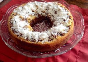 Couronne marbré chocolat-vanille et noix de coco