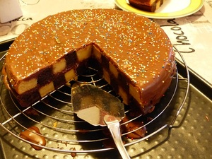 Damier au chocolat