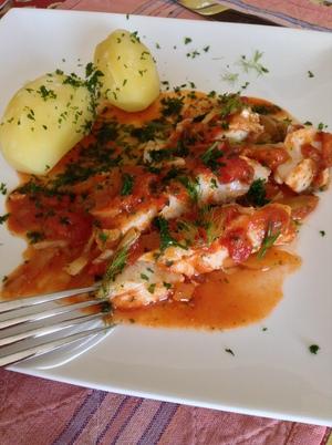 Filet de cabillaud sur lit de fenouil et tomates recette for Cabillaud fenouil