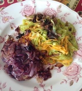 Foie de veau et fittuccines aux chanterelles recette iterroir - Cuisiner le foie de veau ...