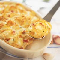 gratin de pommes de terre au ch vre bo te et au lait ar matis recette iterroir. Black Bedroom Furniture Sets. Home Design Ideas