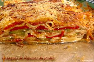 Lasagnes aux poivrons, courgettes et aubergines