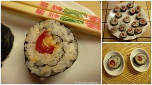 Makis sushis aux petits poivrons farcis