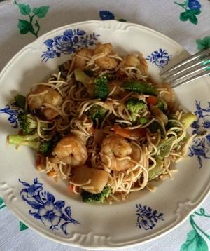 Nouilles Chinoises Aux Legumes Et Scampis Recette Iterroir