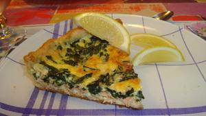 Quiche au saumon et aux pinards recette iterroir - Recette quiche saumon epinard ...