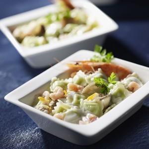 Ravioles pochées au Muscadet et fruits de mer