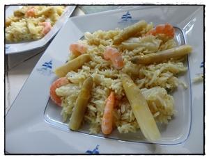 risotto aux asperges fra ches et crevettes recette iterroir. Black Bedroom Furniture Sets. Home Design Ideas