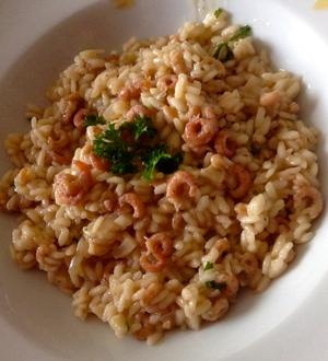 risotto aux crevettes grises au fumet de poisson recette iterroir. Black Bedroom Furniture Sets. Home Design Ideas