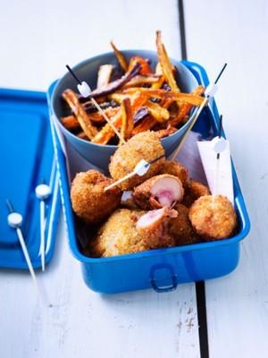 Rognons de b uf pan s aux noisettes et frites de carottes - Cuisiner rognon de boeuf ...