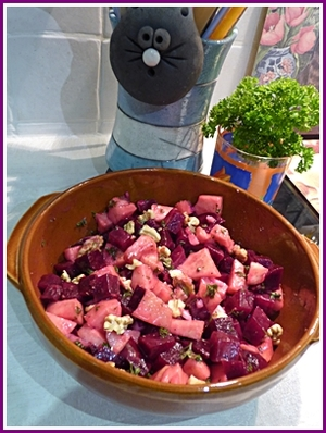 Salade automnale de betteraves rouges