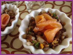 2da28bb5c9cbe1 Salade de lentilles au saumon fumé et agrumes - recette iTerroir