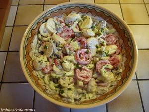 salade de pommes de terre aux champignons frais recette iterroir. Black Bedroom Furniture Sets. Home Design Ideas