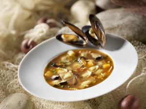 Soupe aux ravioles et aux moules