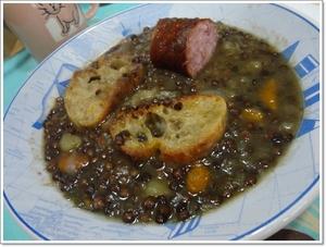 Soupe de lentilles vertes la saucisse de morteau - Cuisiner saucisse de morteau ...