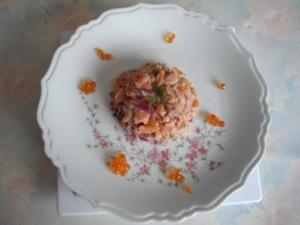 tartare de saumon fum oignon rouge et aneth recette. Black Bedroom Furniture Sets. Home Design Ideas