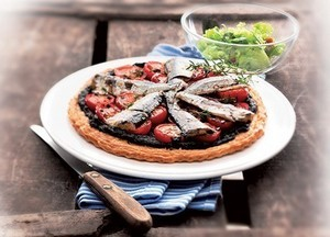 Tartelettes aux filets de sardines et tapenade