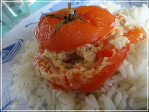 tomates farcies au ch vre frais champignons et lardons recette iterroir. Black Bedroom Furniture Sets. Home Design Ideas