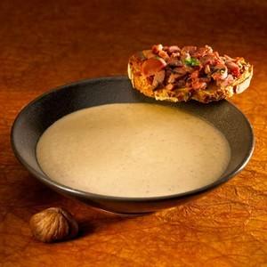 Velouté de châtaignes, tartines de béatilles - recette iTerroir on