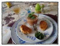 soupe froide de tomates concombre et ses toasts recette iterroir. Black Bedroom Furniture Sets. Home Design Ideas