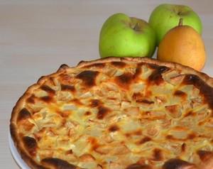 Tarte aux pommes et aux poires fa on normande recette iterroir - Recette tarte au pomme normande ...