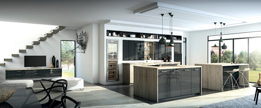 cuisine pour appartement awesome un appartement. Black Bedroom Furniture Sets. Home Design Ideas